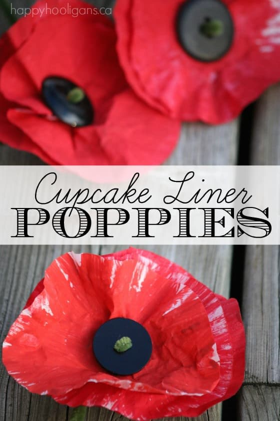 Cupcake Liner Poppy Craft