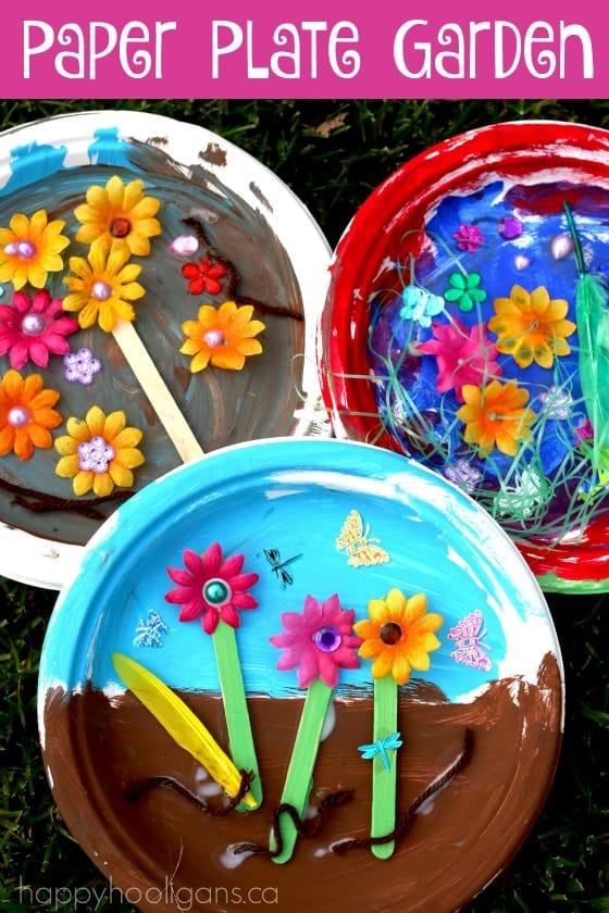 Paper Plate Garden Craft for Toddlers and Preschoolers