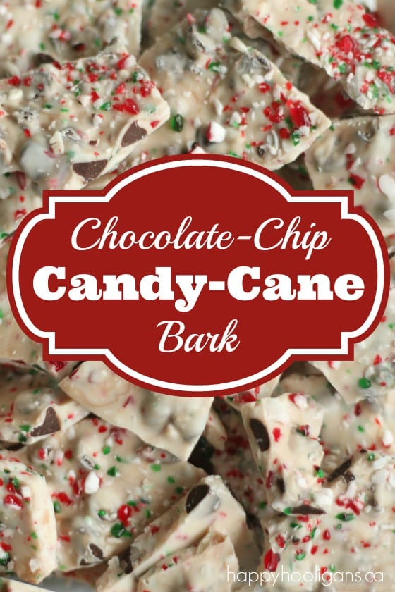Chocolate Chip Candy Cane Bark - Happy Hooligans