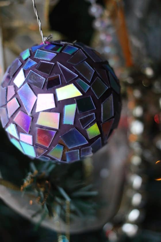 mosaic dvd ornament