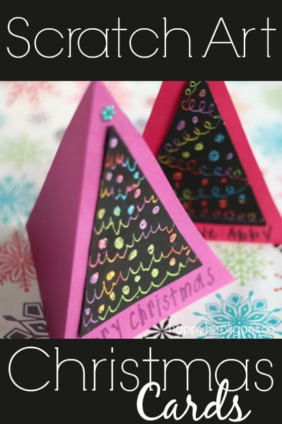 Scratch Art Christmas Cards for kids to make - Happy Hooligans
