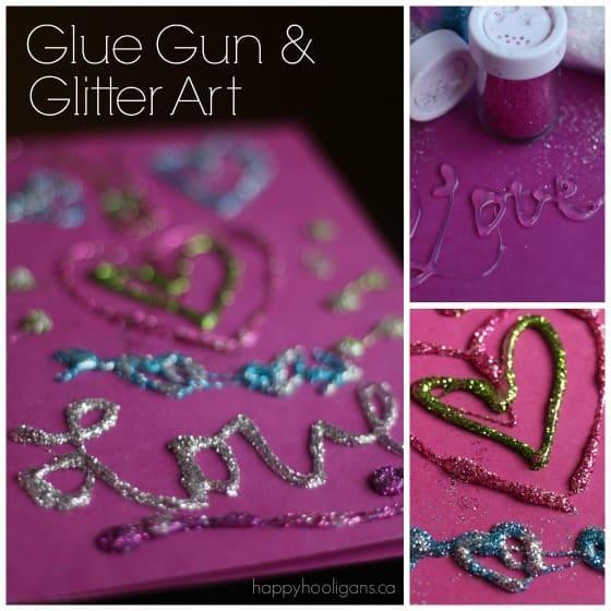 Glue Gun and Glitter Art - Happy Hooligans