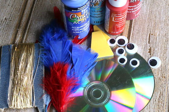 supplies for making cd winter birds craft