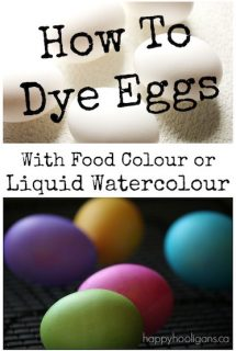How To Dye Easter Eggs with Real Eggs and Liquid Water Colours or Food Colouring