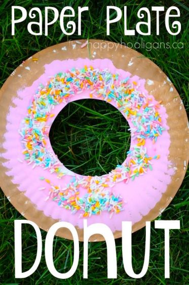 Paper Plate Donut Craft - great Letter D craft for toddlers and preschoolers