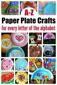 Paper Plate Crafts for Letter of the Week