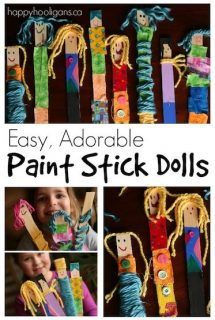 Easy, Adorable Paint Stick Dolls for Kids to Make - Happy Hooligans