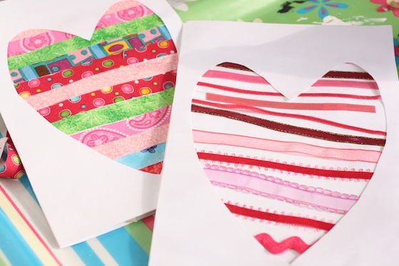 Homemade heart cards for kids