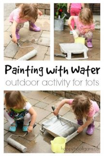 Painting with Water - easy, outdoor activity for kids