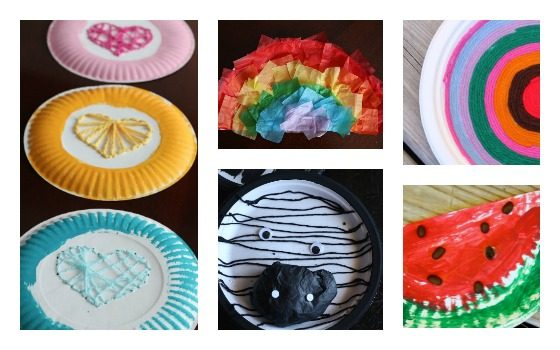 paper plate crafts for letters R Y W and Z