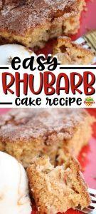 Rhubarb Scratch Cake Recipe