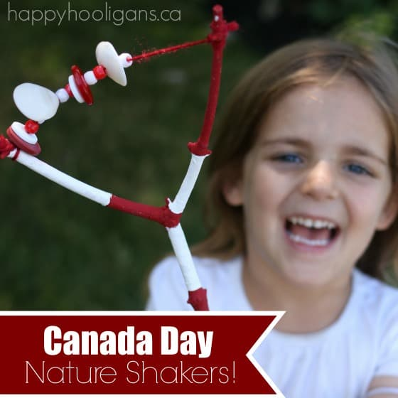 square image of girl shaking canada day nature shaker