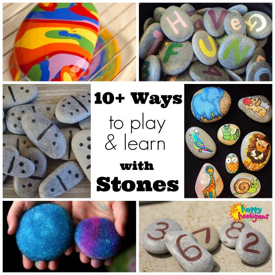 10+ ways to play and learn with stones