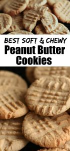 Best soft peanut butter cookies - long pin