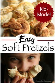 Homemade Soft Pretzels Recipe - Easy Enough for Kids - Happy Hooligans