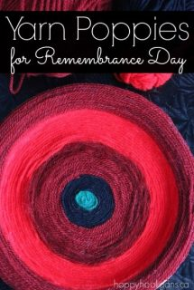 Yarn Poppy Craft for Remembrance Day - happyhooligans.ca