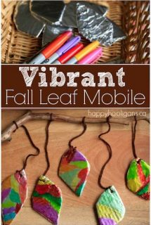 Fall Leaf Mobile with Sharpies and Tinfoil