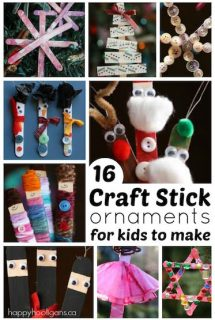 16 Craft Stick Ornaments