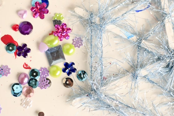 snowflake ornament and craft gems