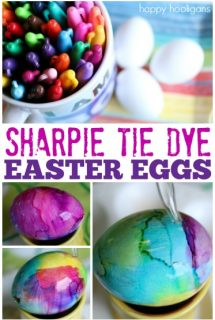 Sharpie and Rubbing Alcohol Easter Eggs - Happy Hooligans