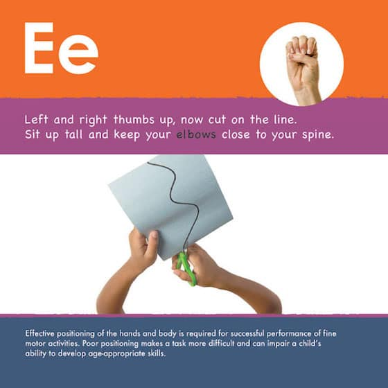 Letter E activities for Fine Motor Development