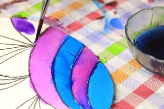 wax resist easter egg painting