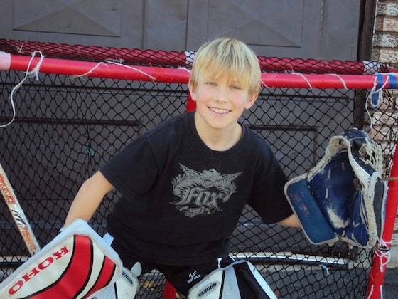 road hockey goalie