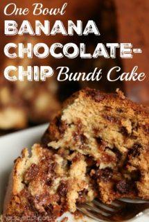One Bowl Best Banana Chocolate Bundt Cake Recipe - Happy Hooligans