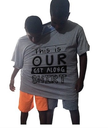 Get Along Tee Shirt to encourage siblings to get along