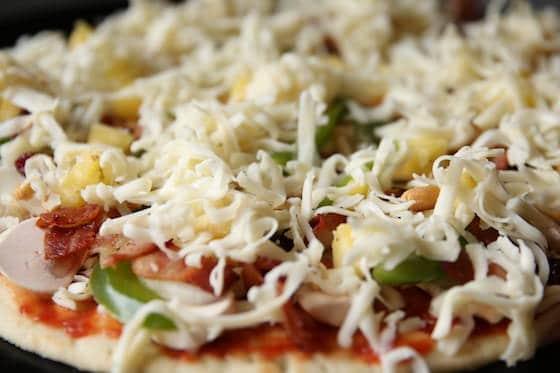 Closeup of Gourmet Pizza