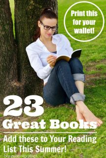 23 Great Books for Moms to Read this Summer . Print this List for your Wallet - Happy Hooligans