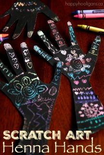 Scratch Art Henna Hands Craft for Kids - Happy Hooligans