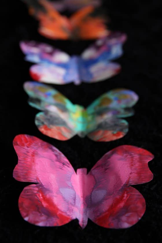 5 painted butterflies