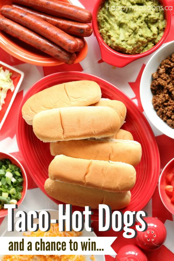 Taco Hotdogs - Make your summer BBQ memorable this year with a Taco Hot Dog Bar - Happy Hooligans