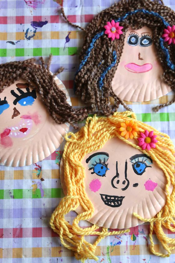 Paper Plate Face Craft for Kids