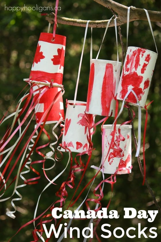 Canada Day Windsock craft - Happy Hooligans