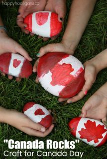 "Canada Rocks"" Craft for Canada Day - Happy Hooligans"
