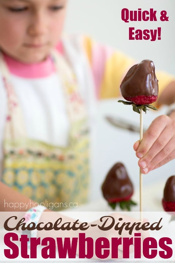 Quick and Easy Chocolate-Dipped Strawberries