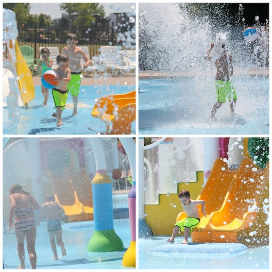 Splash Pad at Sherkston Shores Beach Resort and Campground