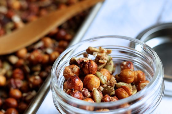 Homemade Granola With Chickpeas And Quick Oats Maple And Cinnamon Happy Hooligans