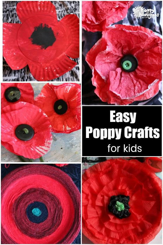 Easy Poppy Crafts for Kids - Happy Hooligans