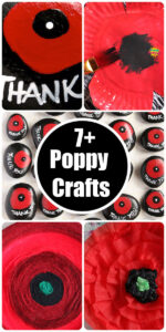 long pin image for poppy crafts round up