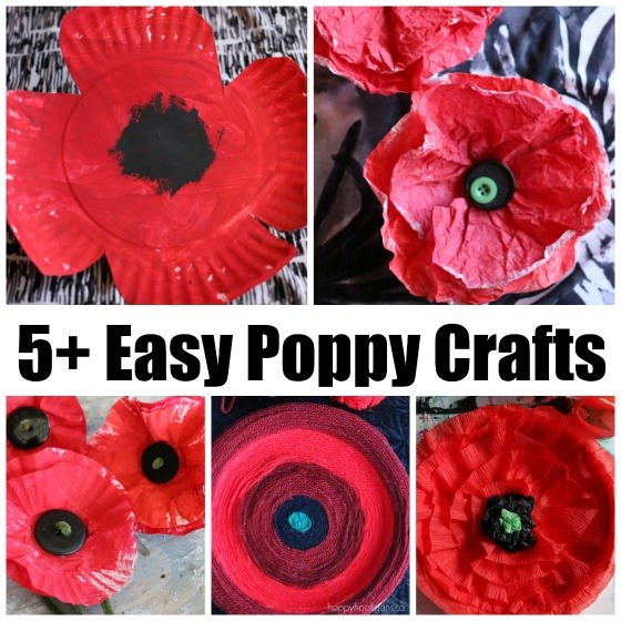 5+ Easy Poppy Crafts for Veterans Day and Remembrance Day