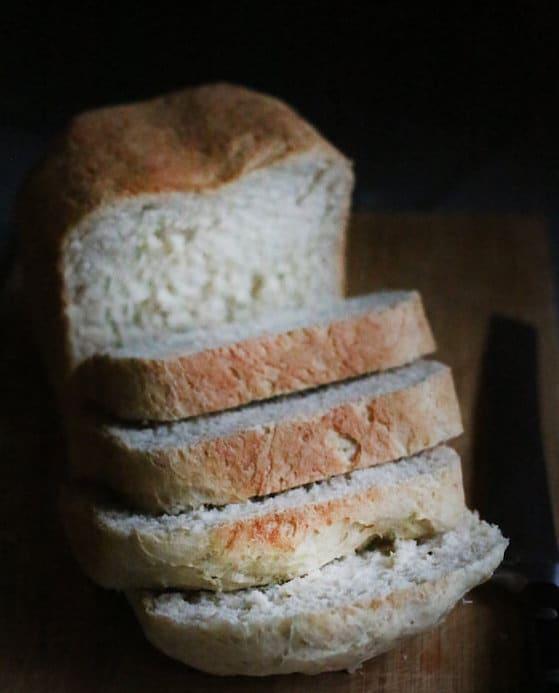sliced homemade oatmeal bread