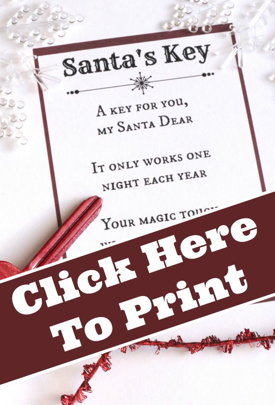 Santa's Key Printable Poem Download