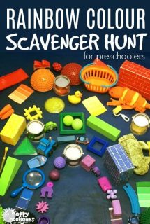 Rainbow Colour Scavenger Hunt for Preschoolers and Toddlers