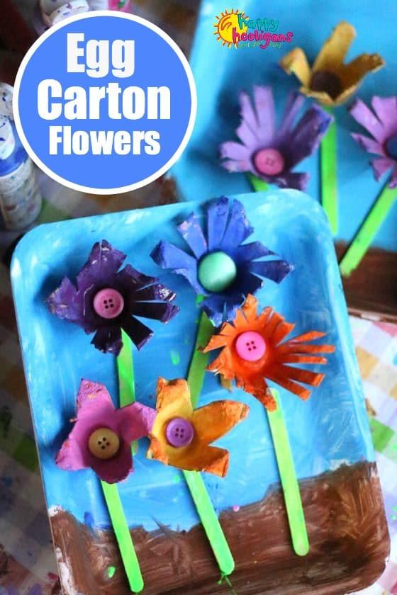 Egg Carton Flower Craft for Preschoolers