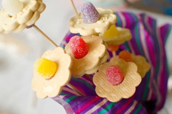 Bouquet of flower cookies