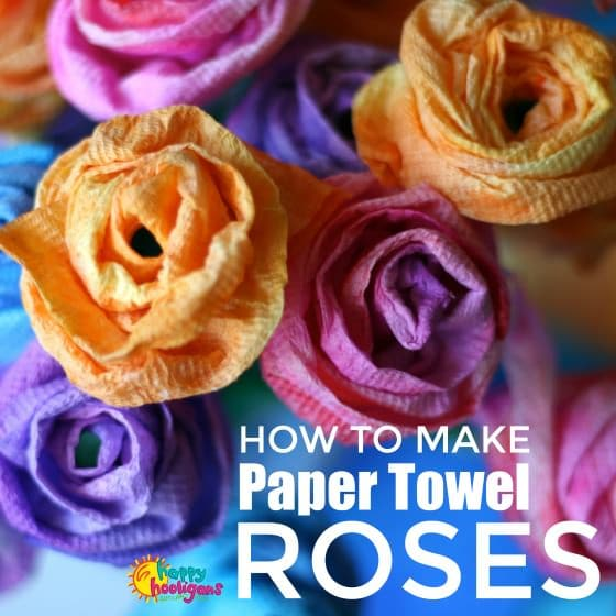 paper rose craft made from paper towels