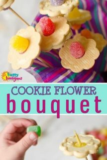 cookie bouquet - flower cookies for Mother's Day